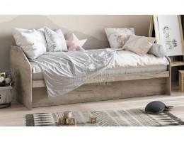 """Кровать """"Радуга"""" 0,9х2,0м (Дуб Серый) ЛДСП производитель: Стендмебель"""