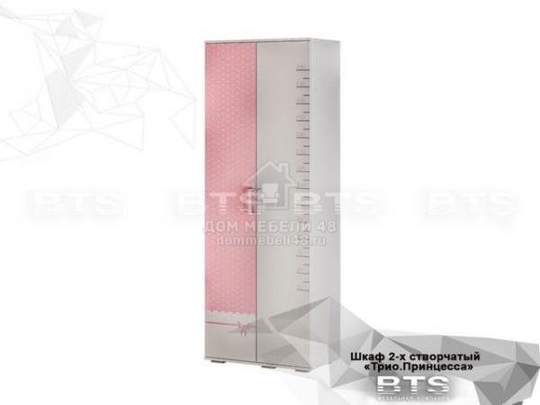 """Шкаф 2-х ств. """"Трио"""" Принцесса (ШК-09) 0,8м ЛДСП производитель: БТС"""