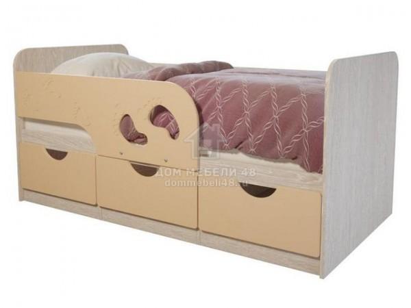 Минима Лего 1,6м, крем-блюле, БТС, детская кроватка с бортиком.