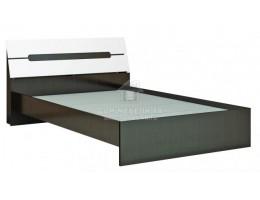 """Кровать """"Гавана"""" 1,4м/1,6м Венге/Акрил белый. ЛДСП+МДФ. Производитель: ТЭКС"""