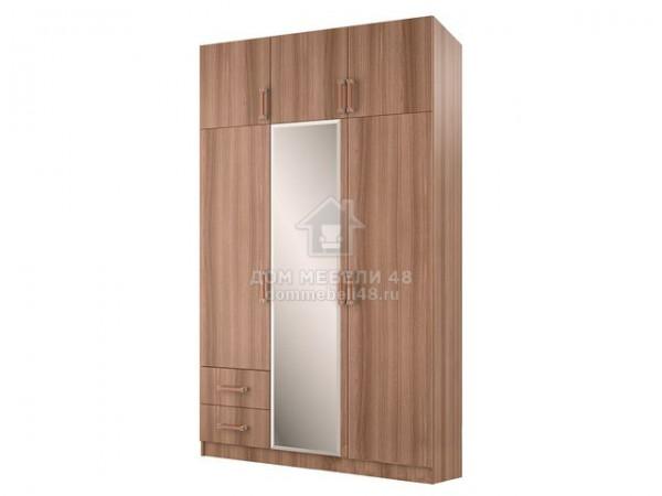 Шкаф 3-х створчатый с перегородкой (ясень шимо)
