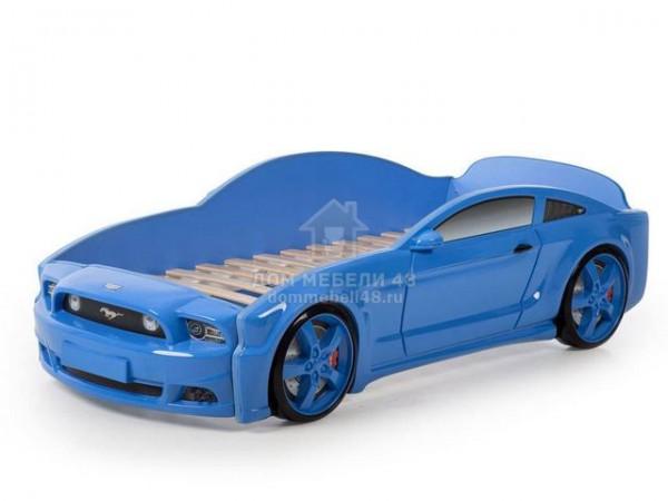 """Кровать-машина """"Мустанг"""" 3D (объемная пластиковая) синяя Производитель: Futuka kids"""