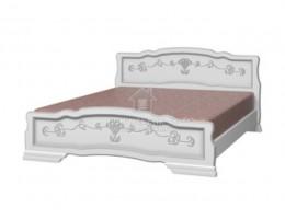 """Кровать """"Карина-6"""" 1,4м Массив (Белый Жемчуг) производитель: Бравомебель"""