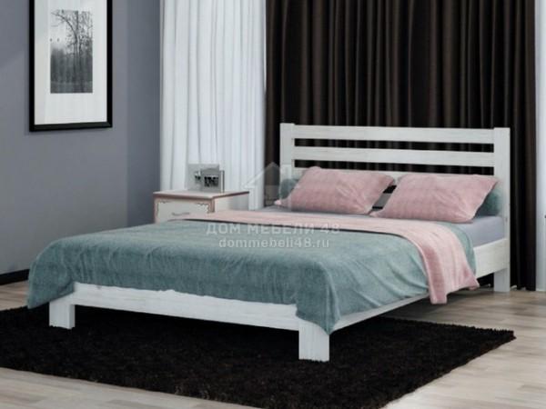 """Кровать """"Вероника"""" 1,6м Массив (Дуб Белый) производитель: Бравомебель"""