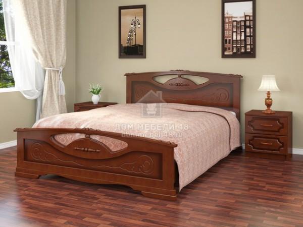 """Кровать """"Елена-2"""" 1,6м массив"""