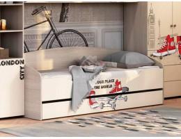 """Кровать """"Мийа-3А"""" КР-001 0,8х2,0м Лондон ЛДСП Производитель: Стиль"""