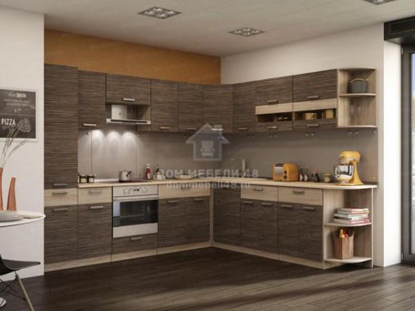 "Кухня ""Зебрано"" 2.8 х 2.5 метра ЛДСП. Производитель - Эра (модульная кухня)"