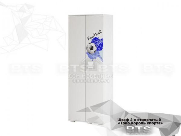 """Шкаф 2-х ств. """"Трио"""" Король Спорта (ШК-09) 0,8м ЛДСП производитель: БТС"""