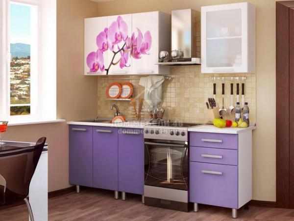 Кухня Орхидея 1,6м с фотопечатью МДФ БТС