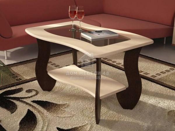 Журнальный стол № 3 с прямоугольным стеклом. Производитель: Стиль