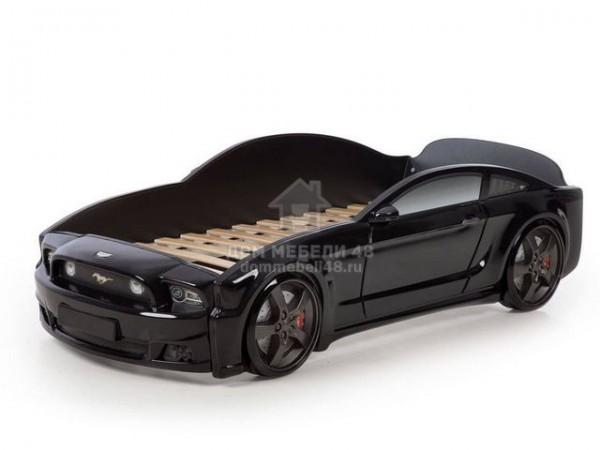 """Кровать-машина """"Мустанг"""" 3D (объемная пластиковая) черная Производитель: Futuka kids"""