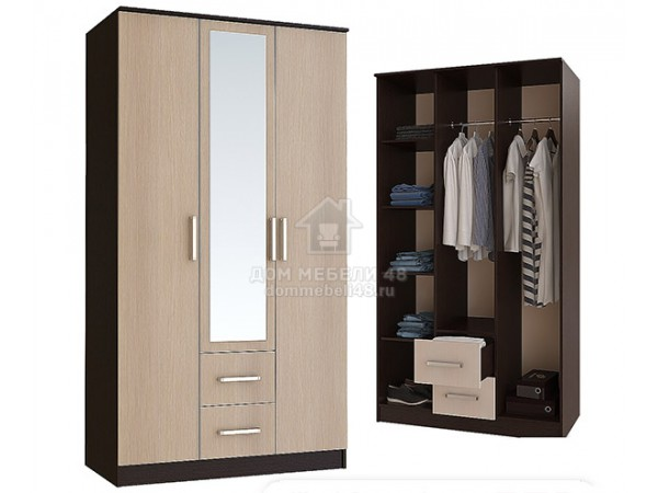 "Шкаф 3-х створчатый"" Фиеста"" 1,2м"