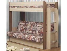 """Кровать-чердак с диван-кроватью """"Немо"""" (с матрасом) производ-ль: Олмеко"""