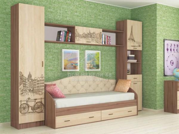 Модульная подростковая спальня Орион (Комплект №5)