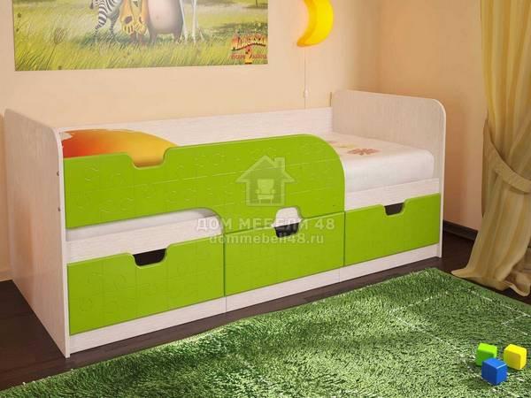 Детская кроватка Минима 1,86м Лайм-Pink