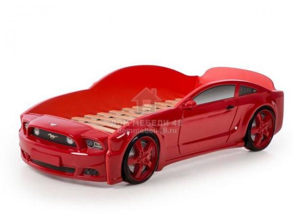 """Кровать-машина """"Мустанг"""" 3D (объемная пластиковая) красная Производитель: Futuka kids"""