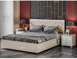 """Кровать """"Амели"""" мягкий щиток 1,6м с подъемным механизмом Производитель: Стиль"""