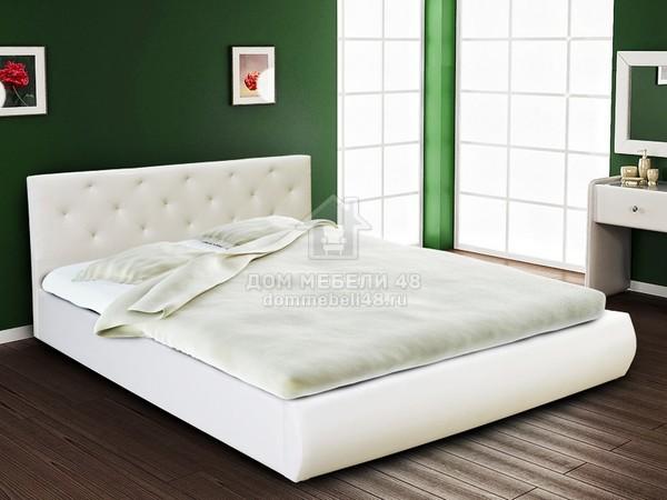 Кровать Интерьерная 1,6м с Мягким Изголовьем М-стиль