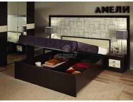 """Кровать """"Амели"""" 1,8х2,0м, с подъемным механизмом, Венге"""