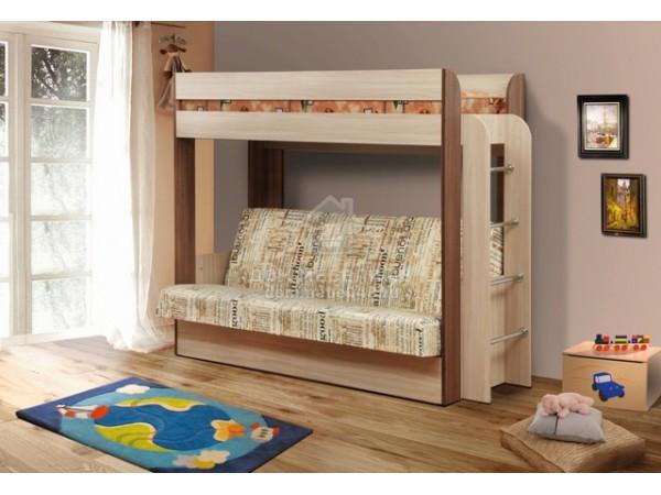 """Кровать-чердак с диван-кроватью """"Немо"""" (без матраса) производитель: Олмеко"""