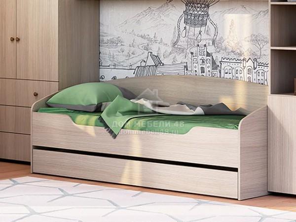 """Кровать """"Мийа-3А"""" КР-001 0,8х2,0м ЛДСП Производитель: Стиль"""