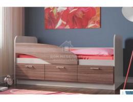 """Кровать одинарная """"06.223"""" 1,8м ЛДСП производитель: Олмеко"""