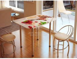 Стол обеденный с принтом (1,0мх0,7м) Рисунок Десерт. Производитель - БТС