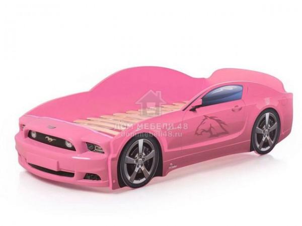"""Кровать-машина """"Мустанг"""" PLUS розовый Производитель: Futuka kids"""