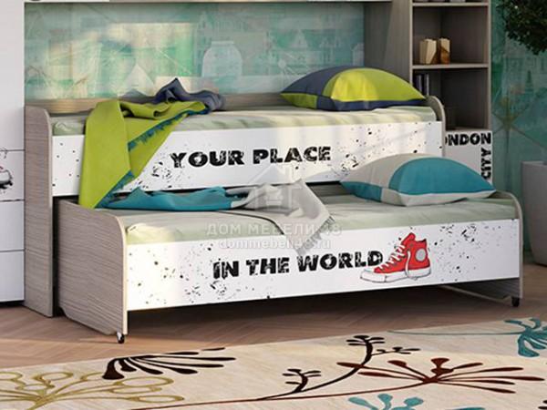 """Кровать 2х уровневая """"Мийа-3А"""" 0,8х2,0м Лондон ЛДСП Производитель: Стиль"""