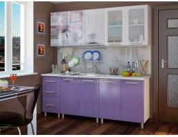 Кухня Люкс Акварель с фотопечатью МДФ 2.0м. БТС
