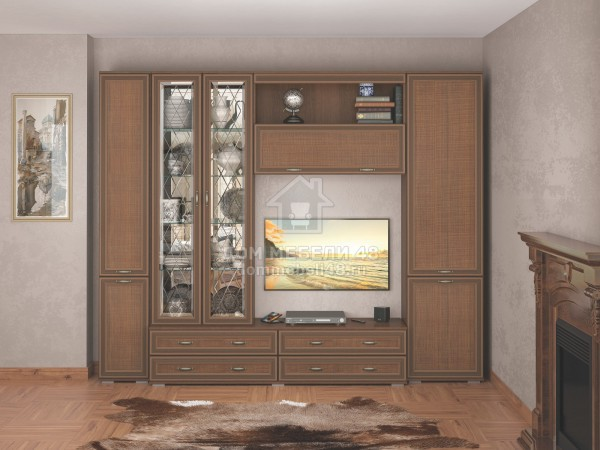 """Гостиная """"Ливорно"""" 2,7м МДФ+ЛДСП (комплектация-4) производитель: Домани"""