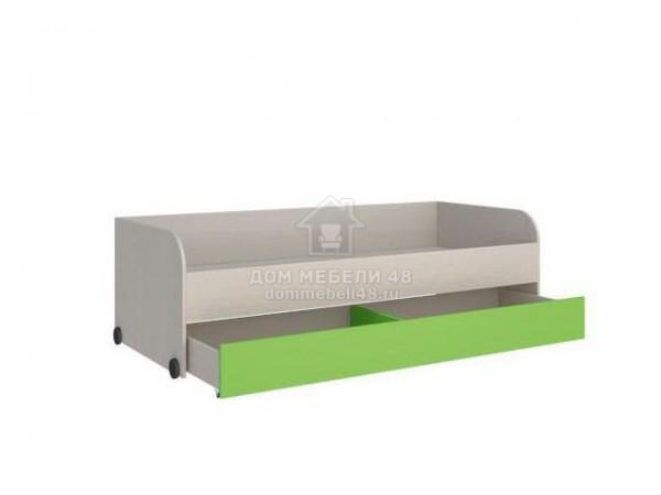 """Кровать нижняя """"Мийа-2"""" 1,96м Зеленый ЛДСП Производитель: Стиль"""