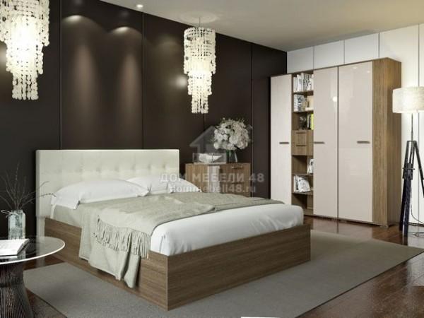 """Кровать """"Баунти"""" 1,6м с мягким изголовьем. Производитель: БТС"""