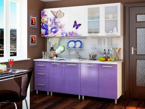 Кухня Люкс Ирис с фотопечатью МДФ 2.0м. БТС