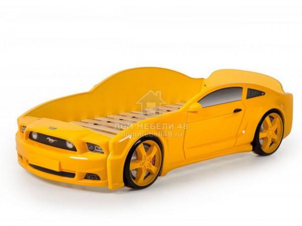 """Кровать-машина """"Мустанг"""" 3D (объемная пластиковая) желтая Производитель: Futuka kids"""
