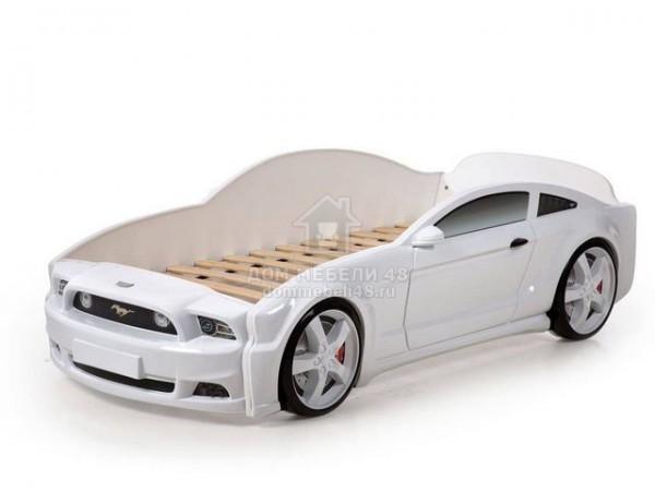 """Кровать-машина """"Мустанг"""" 3D (объемная пластиковая) белая Производитель: Futuka kids"""