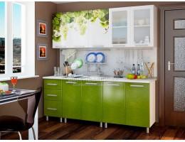 Кухня Люкс Лоза с фотопечатью МДФ 2.0м. БТС