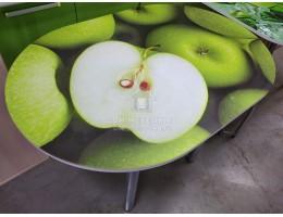 Стол обеденный с принтом (1,0мх0,7м) Рисунок Зеленое яблоко. Производитель - БТС