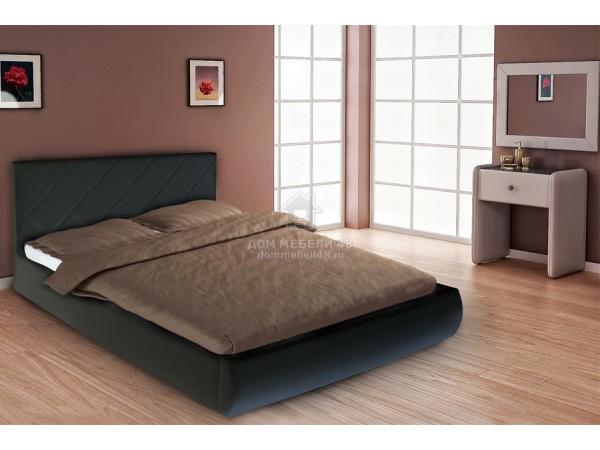 Двуспальная Кровать Эко 1,6м С Мягким Изголовьем М-стиль