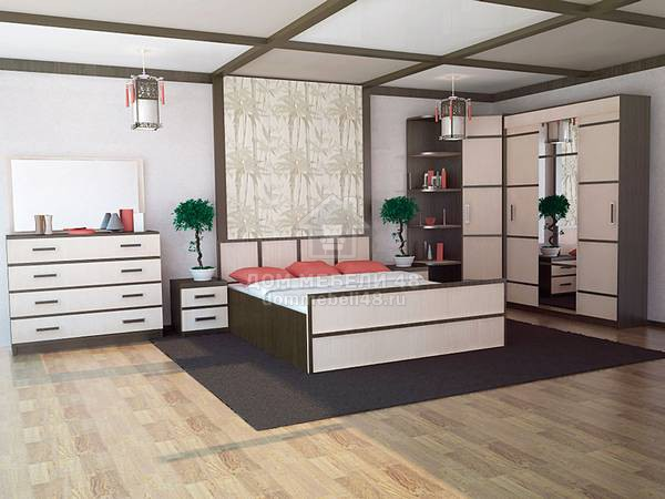 Модульная спальня Сакура (комплектация-4)