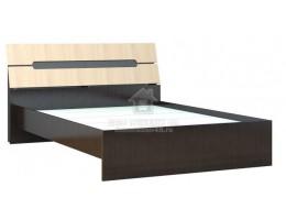 """Кровать """"Гавана"""" 1,4м/1,6м ЛДСП+МДФ Венге/Дуб молочный. Производитель: ТЭКС"""