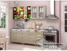 """Кухня """"Санрайс"""" 2,0м МДФ производитель: БТС"""