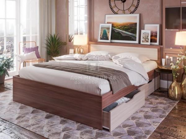 """Кровать """"Гармония"""" 1,4м с ящиками ЛДСП"""
