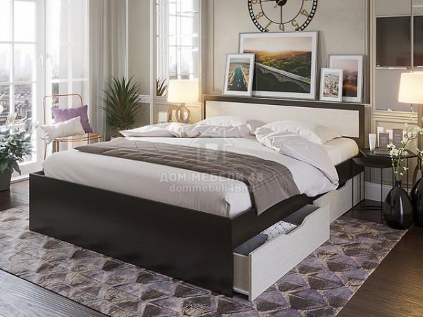 """Кровать """"Гармония"""" 0,9м с ящиками ЛДСП производитель: Комфорт"""