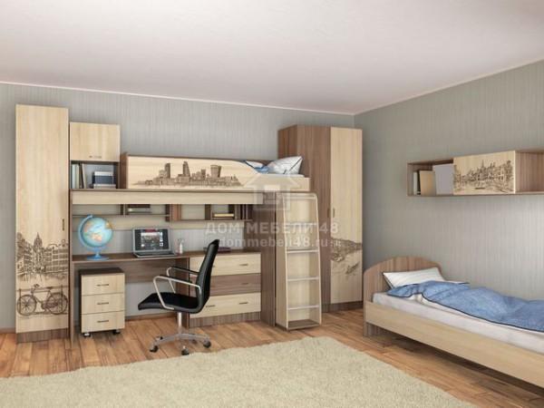 Модульная подростковая спальня Орион (Комплект №3)