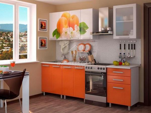 Кухня Персик 1,8м МДФ с фотопечатью БТС