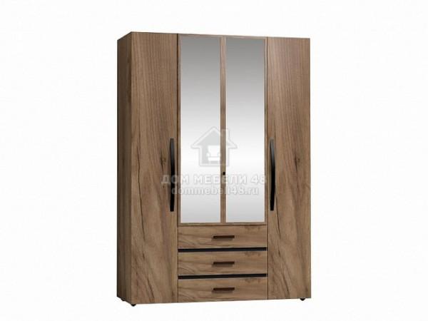 """Шкаф для одежды и белья 555 """"Nature"""" (Натура) 1,6м ЛДСП производитель: Глазовмебель"""