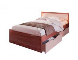 """Кровать """"Гармония"""" (КР607) 0,8м с ящик. (Шимо) ЛДСП производитель: Стендмебель"""