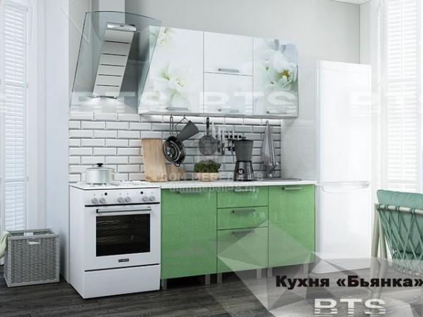 """Кухня """"Бьянка"""" 1,5м салатовый МДФ производитель: БТС"""