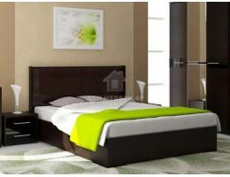"""Кровать двуспальная """"Луиза"""" 1,4м/1,6м (Венге/Экокожа кайман коричневый). Производитель: Стиль"""